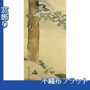 酒井抱一「雪中檜に小禽図」【窓飾り:不織布フラット100g】