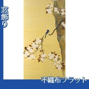 酒井抱一「桜に小禽図・柿に小禽図(右隻)」【窓飾り:不織布フラット100g】