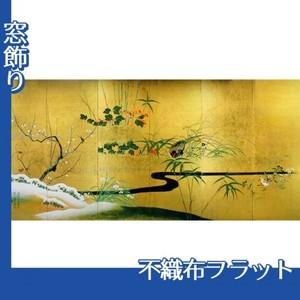 酒井抱一「四季花鳥図屏風」【窓飾り:不織布フラット100g】