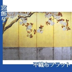 酒井抱一「桜図屏風(左隻)」【窓飾り:不織布フラット100g】