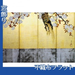 酒井抱一「桜図屏風(右隻)」【窓飾り:不織布フラット100g】