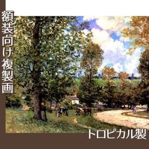 シスレー「牧場の牛、ルーヴシエンヌ」【複製画:トロピカル】
