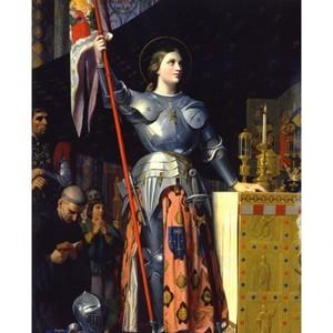 アングル「シャルル7世の戴冠式のジャンヌ・ダルク」【ハンカチ・コースター・複製画】