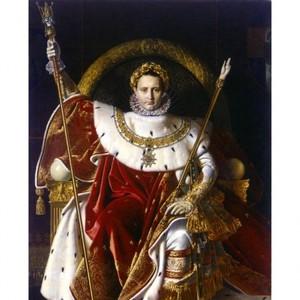 アングル「皇帝の座につくナポレオン1世」【ハンカチ・コースター・複製画】