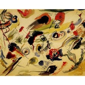 カンディンスキー「無題(抽象的水彩)」【ハンカチ・コースター・複製画】