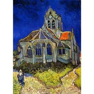ゴッホ「オヴェールの教会」【ハンカチ・コースター・複製画】