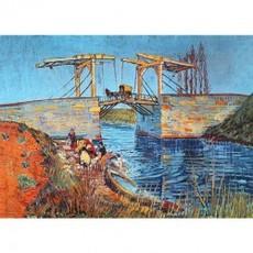 ゴッホ「アルルのはね橋(ラングロワ橋)」【ハンカチ・コースター・複製画】