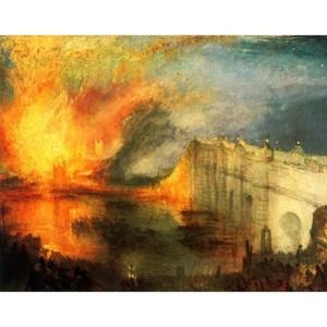 ターナー「国会議事堂の炎上、1834年10月16日」【ハンカチ・コースター・複製画】