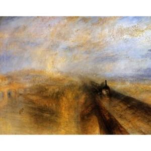 ターナー「雨.蒸気.スピード:グレート・ウェスタン鉄道」【ハンカチ・コースター・複製画】