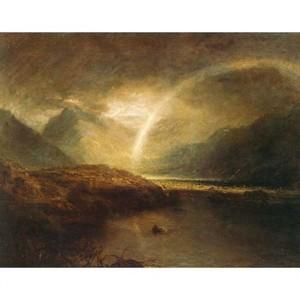ターナー「バターミア湖 カンバーランドのクロマック湖の一部」【ハンカチ・コースター・複製画】
