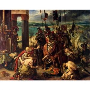 ドラクロア「十字軍のコンスタンティノープル入城」【ハンカチ・コースター・複製画】