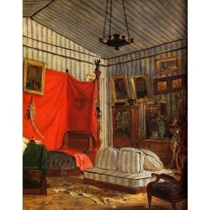 ドラクロア「モルネー伯爵の居室」【ハンカチ・コースター・複製画】
