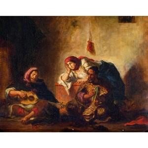 ドラクロア「モガドールのユダヤ人楽師たち」【ハンカチ・コースター・複製画】