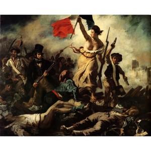 ドラクロア「民衆を導く自由の女神」【ハンカチ・コースター・複製画】