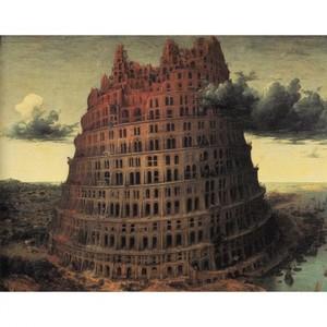ブリューゲル「バベルの塔2」【ハンカチ・コースター・複製画】