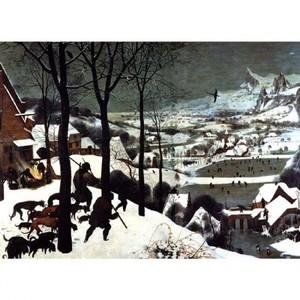 ブリューゲル「雪中の狩人」【ハンカチ・コースター・複製画】