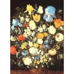 ブリューゲル「アイリスのある花束」【ハンカチ・コースター・複製画】