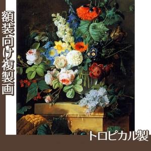 ルドゥーテ「ガラスの花瓶の花」【複製画:トロピカル】