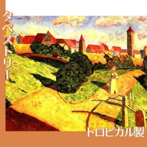 カンディンスキー「古い都市2」【タペストリー:トロピカル】