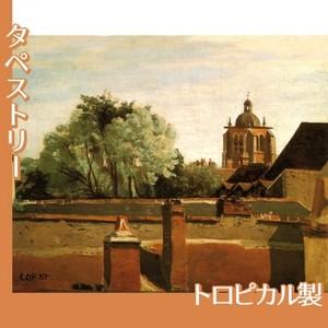 コロー「オルレアンのサン-パテルヌ教会鐘楼」【タペストリー:トロピカル】