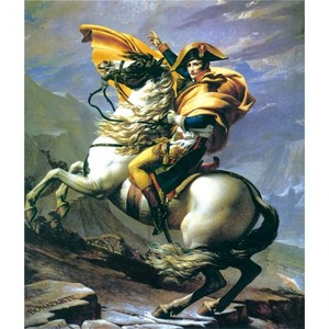 J.Lダヴィッド「アルプスを越えるナポレオン」【ハンカチ・コースター・複製画】