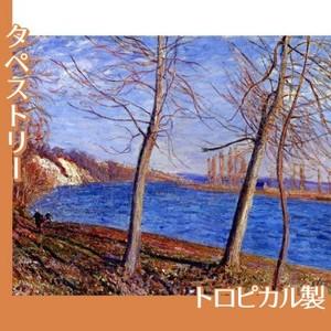 シスレー「ヴヌーの川岸」【タペストリー:トロピカル】