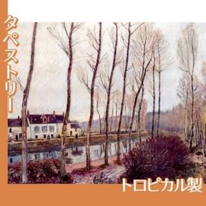 シスレー「ロワン川の運河、冬」【タペストリー:トロピカル】