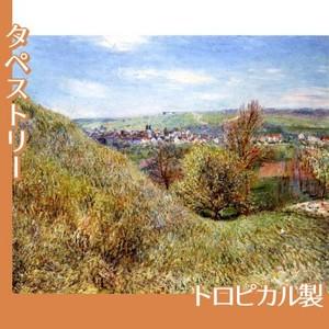 シスレー「春のモレの丘にて、朝」【タペストリー:トロピカル】