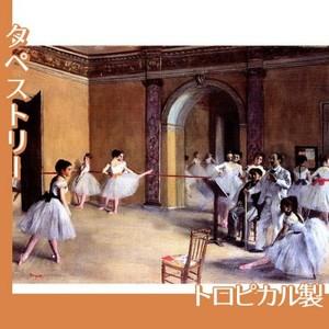 ドガ「ル・ぺルチエ街のオペラ座の舞台稽古場」【タペストリー:トロピカル】