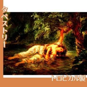 ドラクロワ「オフィーリアの死」【タペストリー:トロピカル】