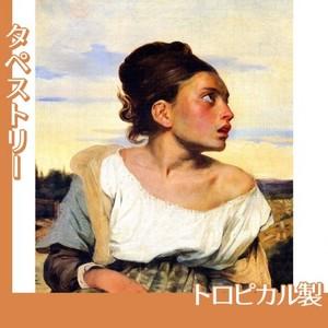 ドラクロワ「墓場の孤児」【タペストリー:トロピカル】