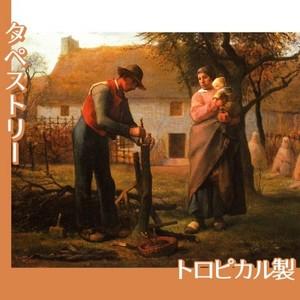 ミレー「接ぎ木をする人」【タペストリー:トロピカル】