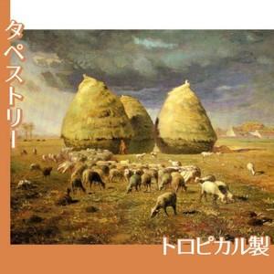 ミレー「秋:積み藁」【タペストリー:トロピカル】