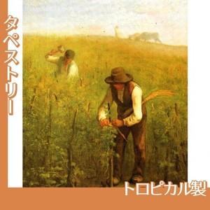 ミレー「葡萄畑で」【タペストリー:トロピカル】