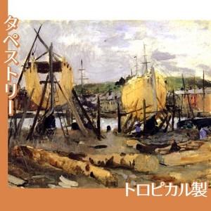 モリゾ「建造中の船」【タペストリー:トロピカル】