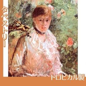 モリゾ「窓辺の若い女性」【タペストリー:トロピカル】