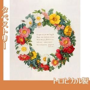ルドゥーテ「バラ図譜の口絵」【タペストリー:トロピカル】