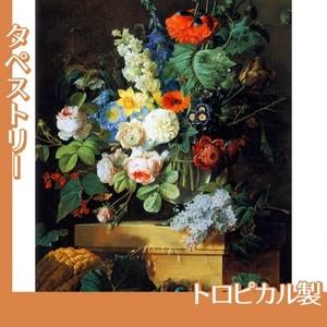 ルドゥーテ「ガラスの花瓶の花」【タペストリー:トロピカル】