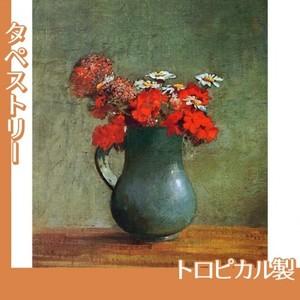 ルドン「花びんと花」【タペストリー:トロピカル】