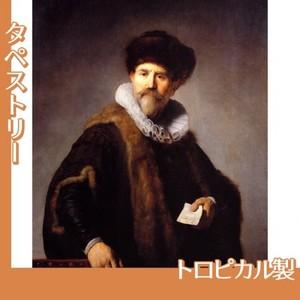 レンブラント「ニコラース・ルッツの肖像」【タペストリー:トロピカル】