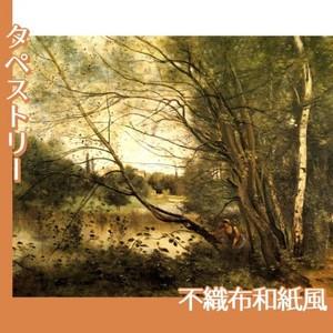 コロー「ヴィルーダヴレーの池」【タペストリー:不織布和紙風】