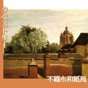 コロー「オルレアンのサン-パテルヌ教会鐘楼」【タペストリー:不織布和紙風】