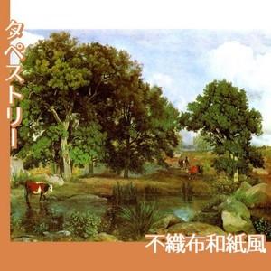 コロー「フォンテーヌブローの森の光景」【タペストリー:不織布和紙風】