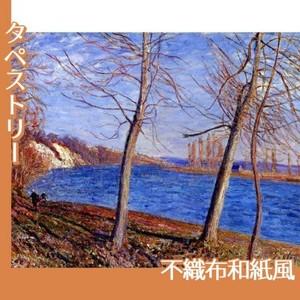 シスレー「ヴヌーの川岸」【タペストリー:不織布和紙風】