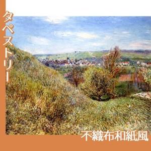 シスレー「春のモレの丘にて、朝」【タペストリー:不織布和紙風】