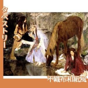 ドガ「バレエ「泉」のフィオルク嬢」【タペストリー:不織布和紙風】