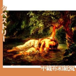 ドラクロワ「オフィーリアの死」【タペストリー:不織布和紙風】