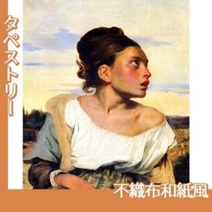 ドラクロワ「墓場の孤児」【タペストリー:不織布和紙風】