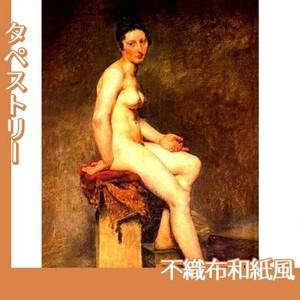 ドラクロワ「坐る裸婦・ローズ嬢」【タペストリー:不織布和紙風】