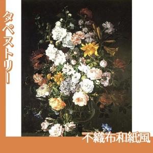 バティスト・モノワイエ「花瓶の花」【タペストリー:不織布和紙風】